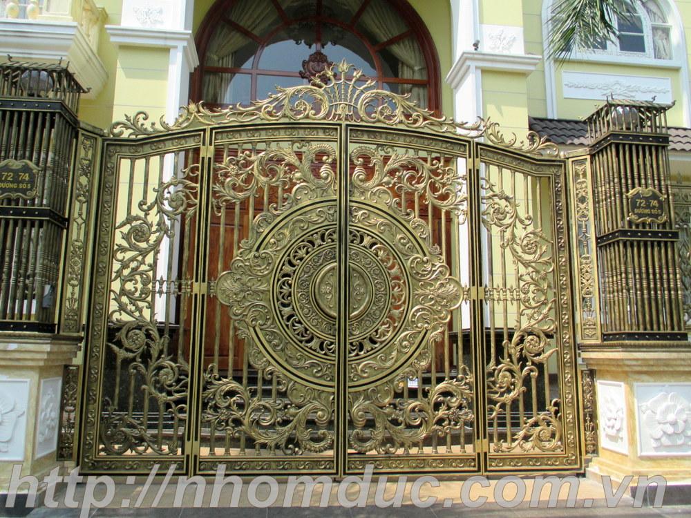 Cổng biệt thự Hà Nội, Cổng nhôm đúc, các dòng sản phẩm nhôm đúc