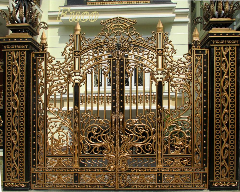 Mẫu cửa cổng nhôm đúc GAT 135, Cửa cổng nhôm đúc Fuco mẫu mã đẹp