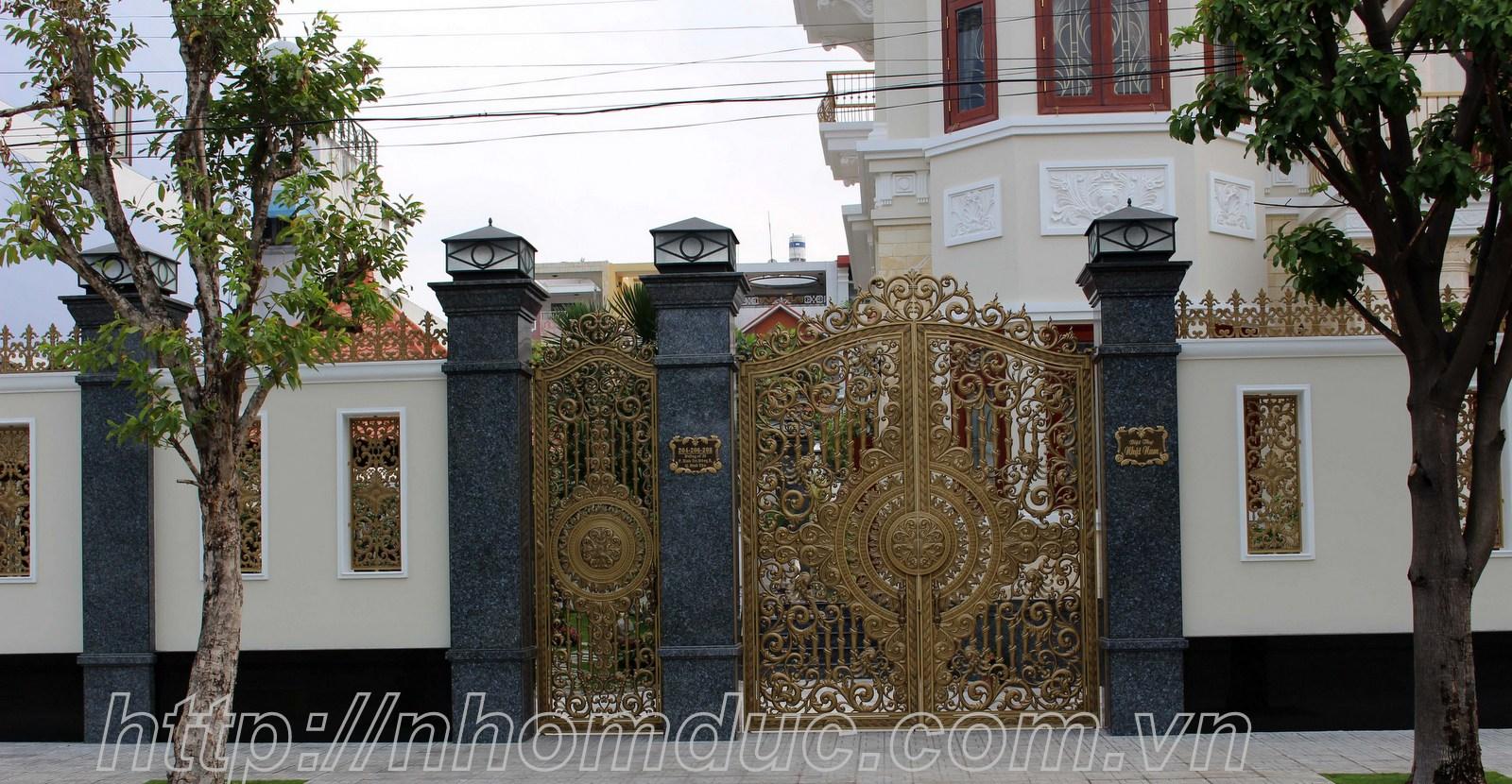 Cổng nhôm đúc, Cổng cửa nhôm đúc Hà Nội, nhôm
