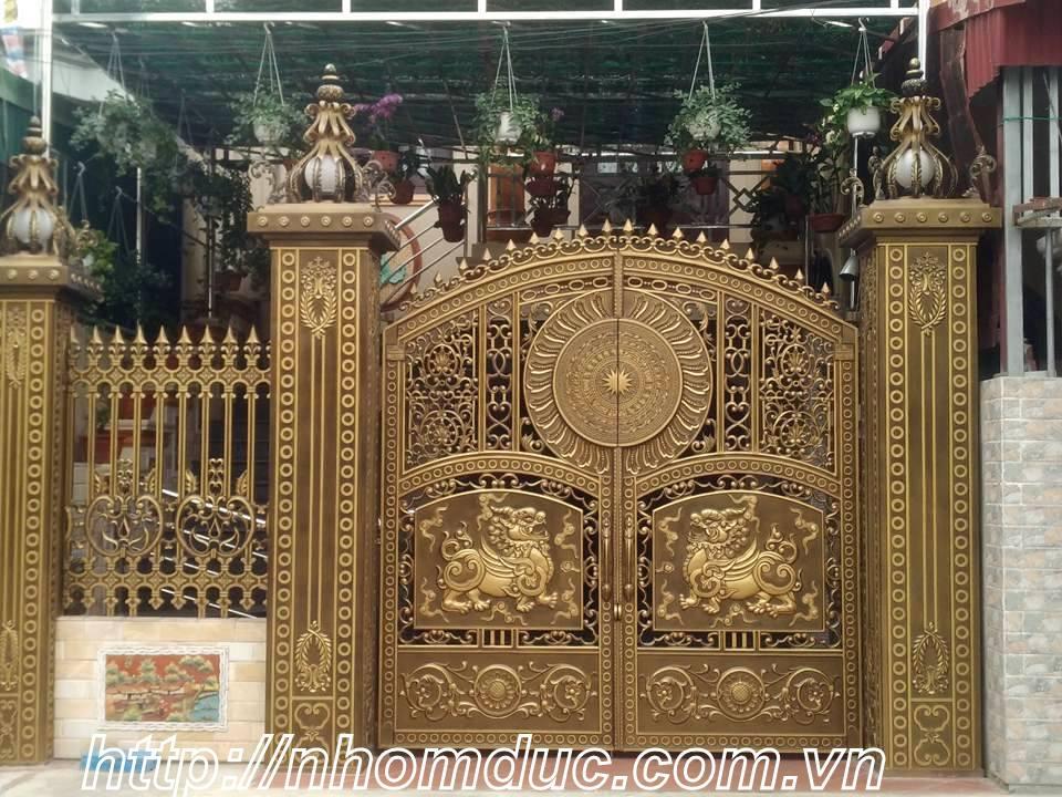 Cửa cổng nhôm đúc GAT 135 - Nhôm đúc biệt thự Hà Nội, nhôm đúc Hà Nội, nhôm đúc biệt thự