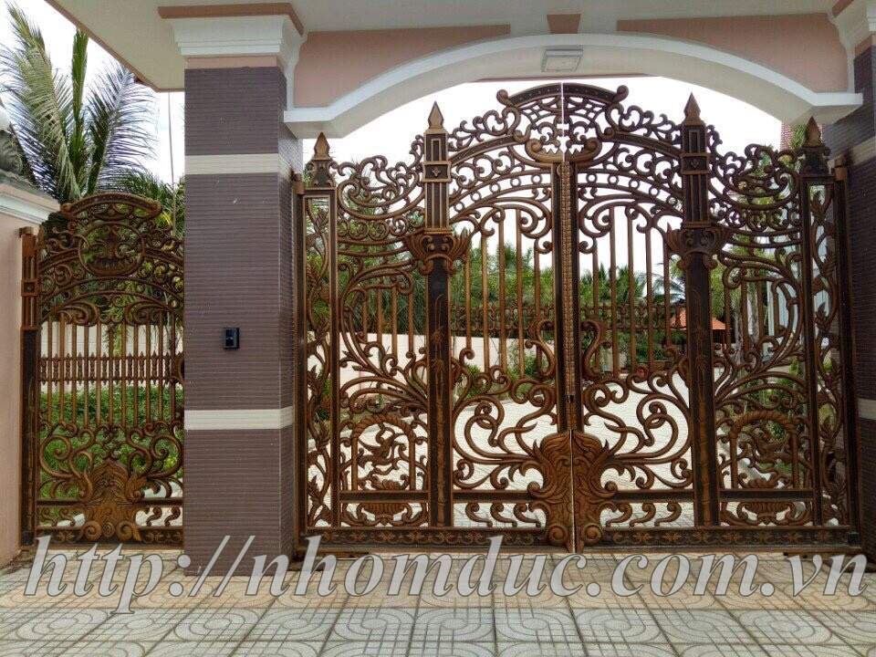 lắp cổng nhôm đúc Fuco, lắp cổng nhôm đúc Fuco Kiên Giang