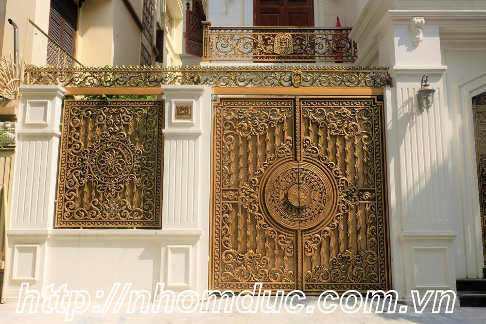 nhôm đúc cao cấp Fuco Vĩnh Châu, cửa cổng biệt thự nhôm đúc Fuco Ngã Năm