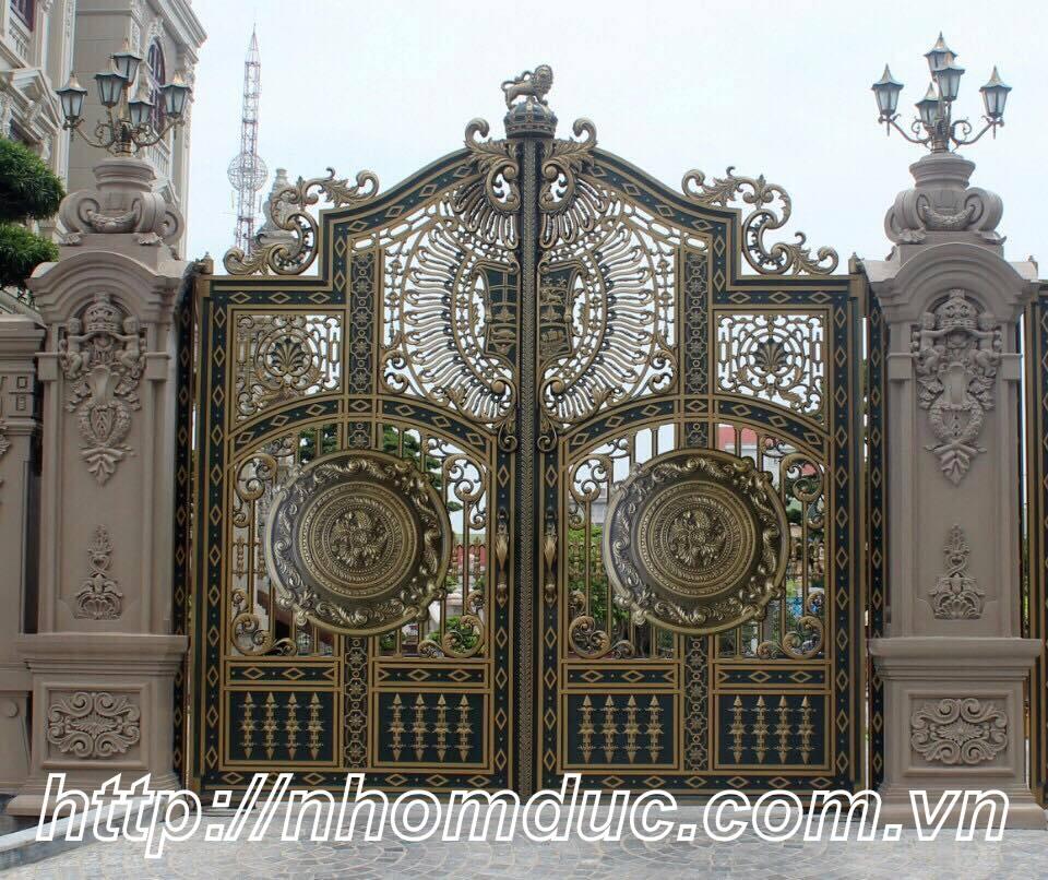 cửa cổng biệt thự nhôm đúc Fuco Bỉm Sơn, cửa cổng biệt thự nhôm đúc Fuco Sầm Sơn