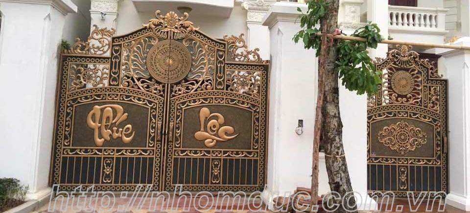 cửa cổng biệt thự nhôm đúc Fuco Bình Minh, cửa cổng biệt thự nhôm đúc Fuco Vĩnh Phúc, cửa cổng biệt thự nhôm đúc Fuco Vĩnh Yên