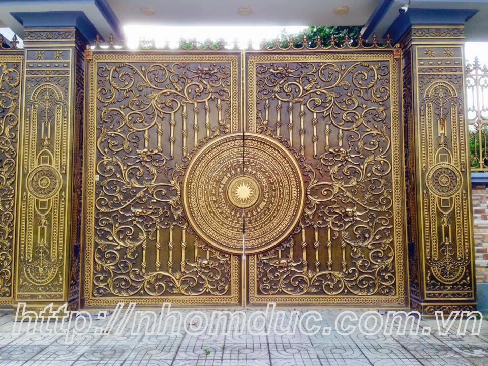 cửa cổng biệt thự nhôm đúc Fuco Phúc Yên, cửa cổng biệt thự nhôm đúc Fuco Yên Bái