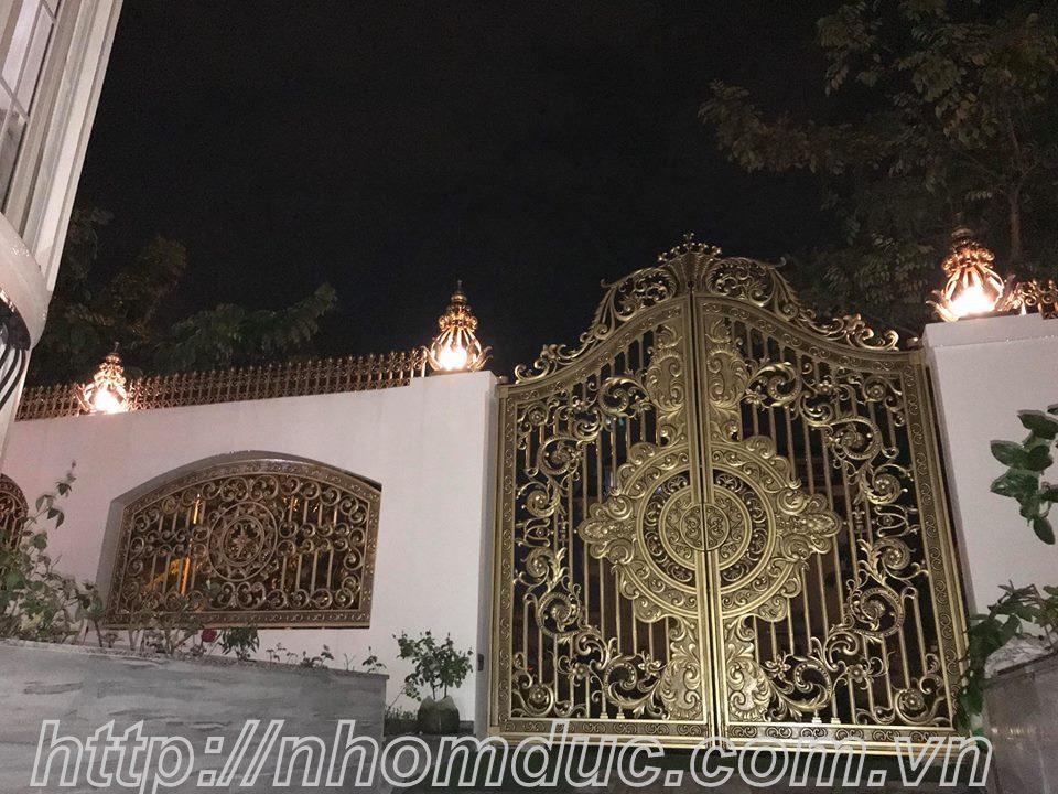 cửa cổng biệt thự nhôm đúc Fuco Tuy Hòa, cửa cổng biệt thự nhôm đúc Fuco Sông Cầu