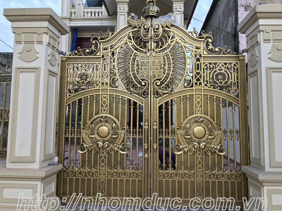 cửa cổng biệt thự nhôm đúc Fuco Cần Thơ, cửa cổng biệt thự nhôm đúc Fuco Đà Nẵng