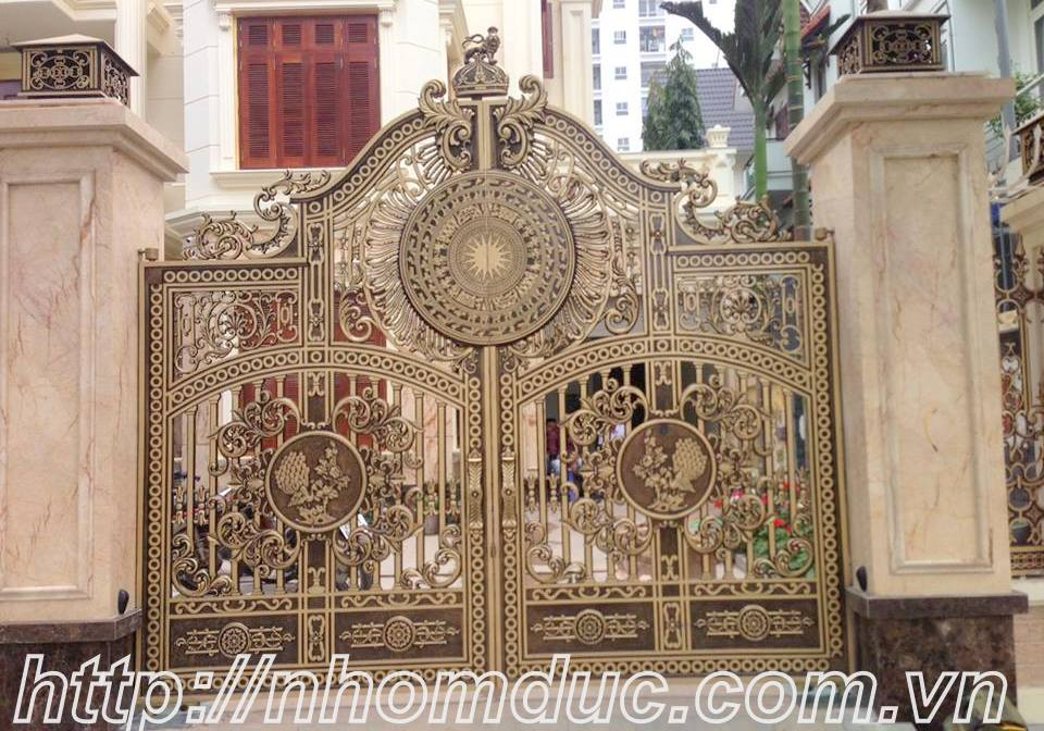 cửa cổng biệt thự nhôm đúc Fuco Hải Phòng, cửa cổng biệt thự nhôm đúc Fuco Hà Nội
