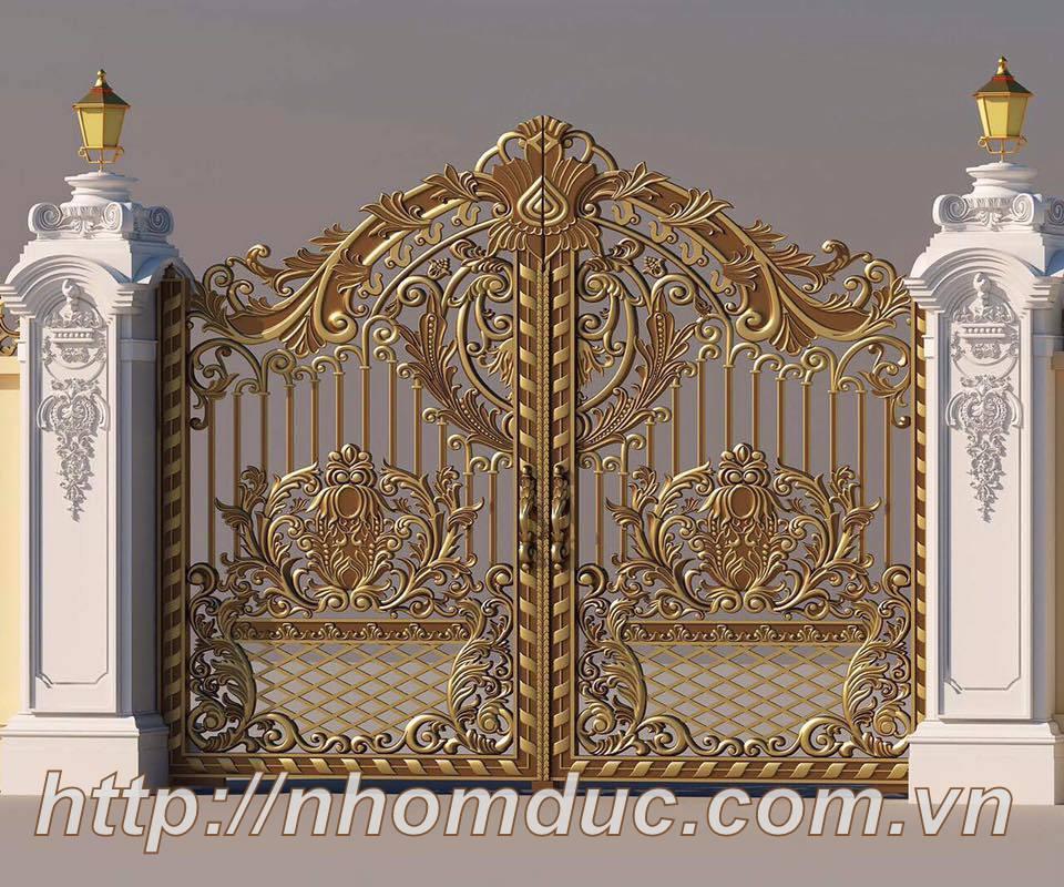Cung cấp cửa cổng nhôm đúc đẹp, cổng biệt thự đẹp