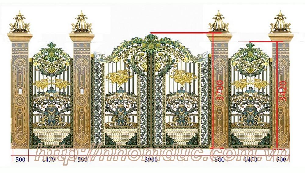 Tổng hợp các mẫu cổng phụ hợp kim nhôm đúc đẹp