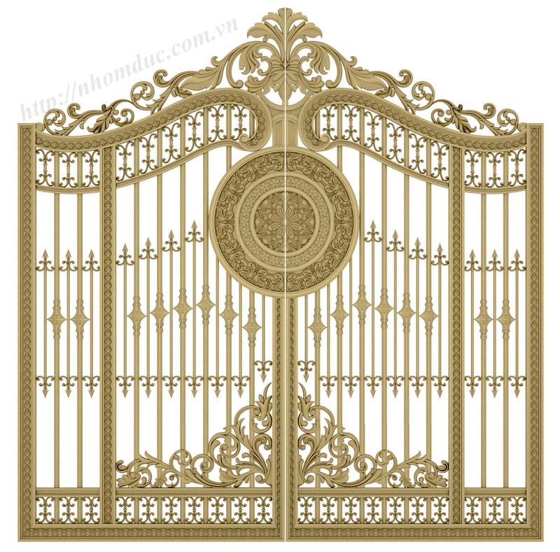 Cửa cổng đúc hợp kim nhôm