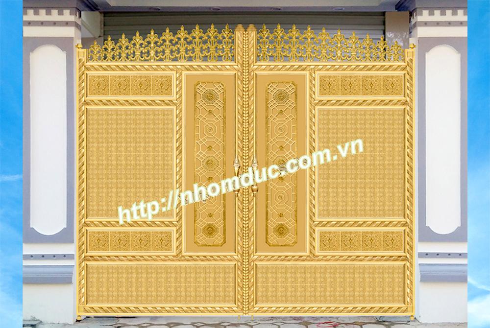 mẫu thiết kế cửa cổng nhôm đúc đẹp