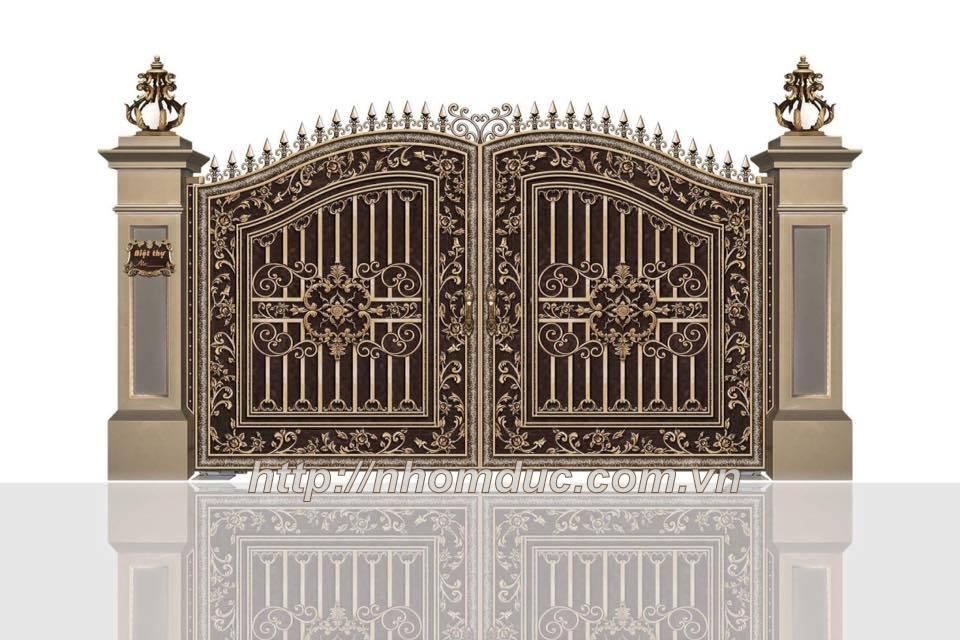 cửa cổng nhôm đúc Fuco mẫu mã đẹp, sản xuất công nghện Nhật Bản