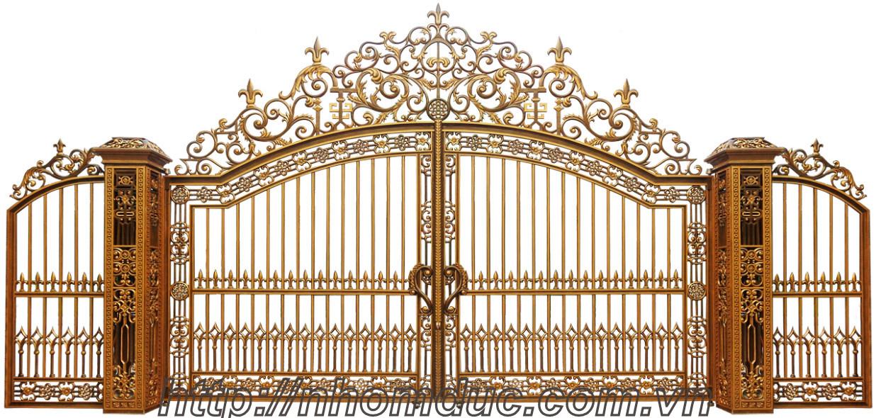 Bộ sưu tập các mẫu cổng nhôm đúc Hà Nội đẹp nhất