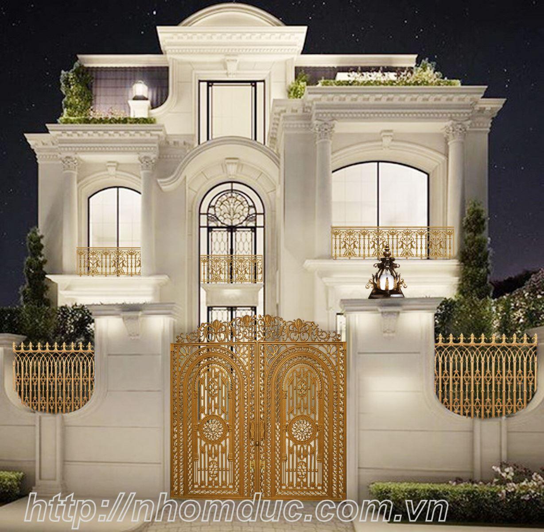 Nhà tôi là nhà biệt thự có kiểu dáng thiết kế đẹp. Tôi đã tìm hiểu nhiều sản phẩm cổng cửa, lan can sắt, hàng rào và một số sản phẩm khác