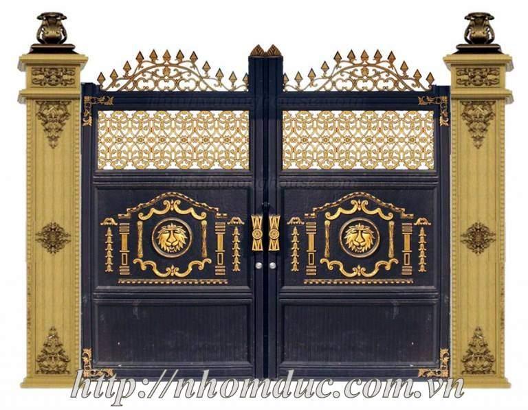 mẫu cổng nhôm đúc đẹp fuco