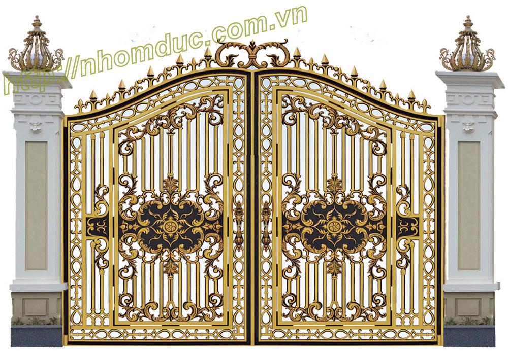Cửa nhôm đúc mẫu GAT, cổng nhôm đúc đẹp