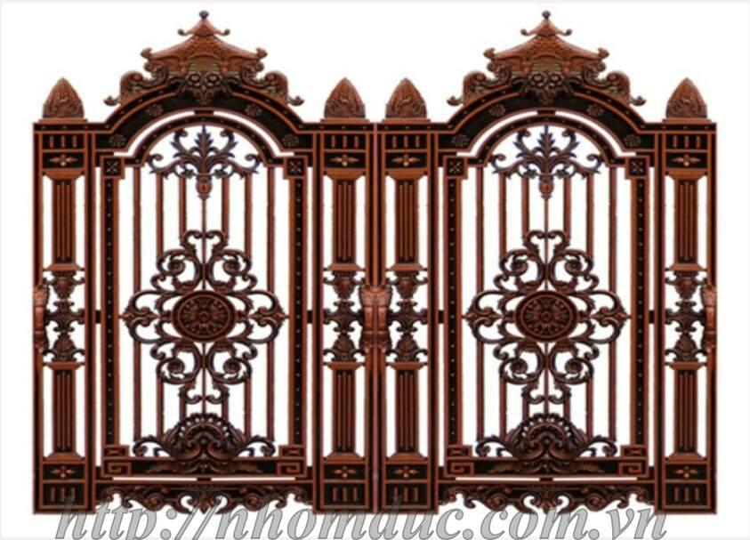 Cửa Nhôm Đúc Fuco, Mẫu cổng nhôm đúc biệt thự hiện đại