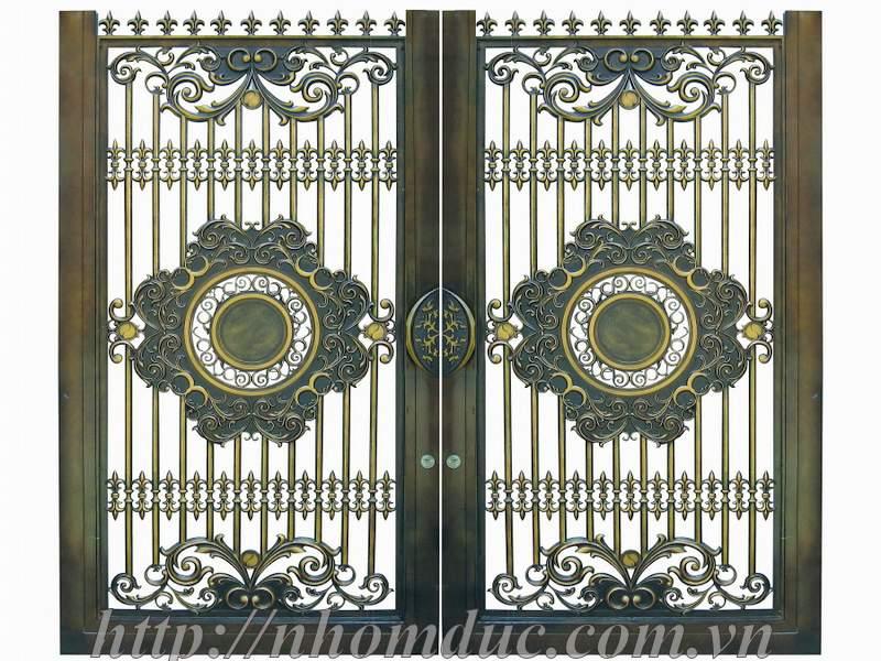 Cổng nhôm đúc đẹp, nhôm đúc Hà Nội, những mẫu cổng nhôm đúc đẹp