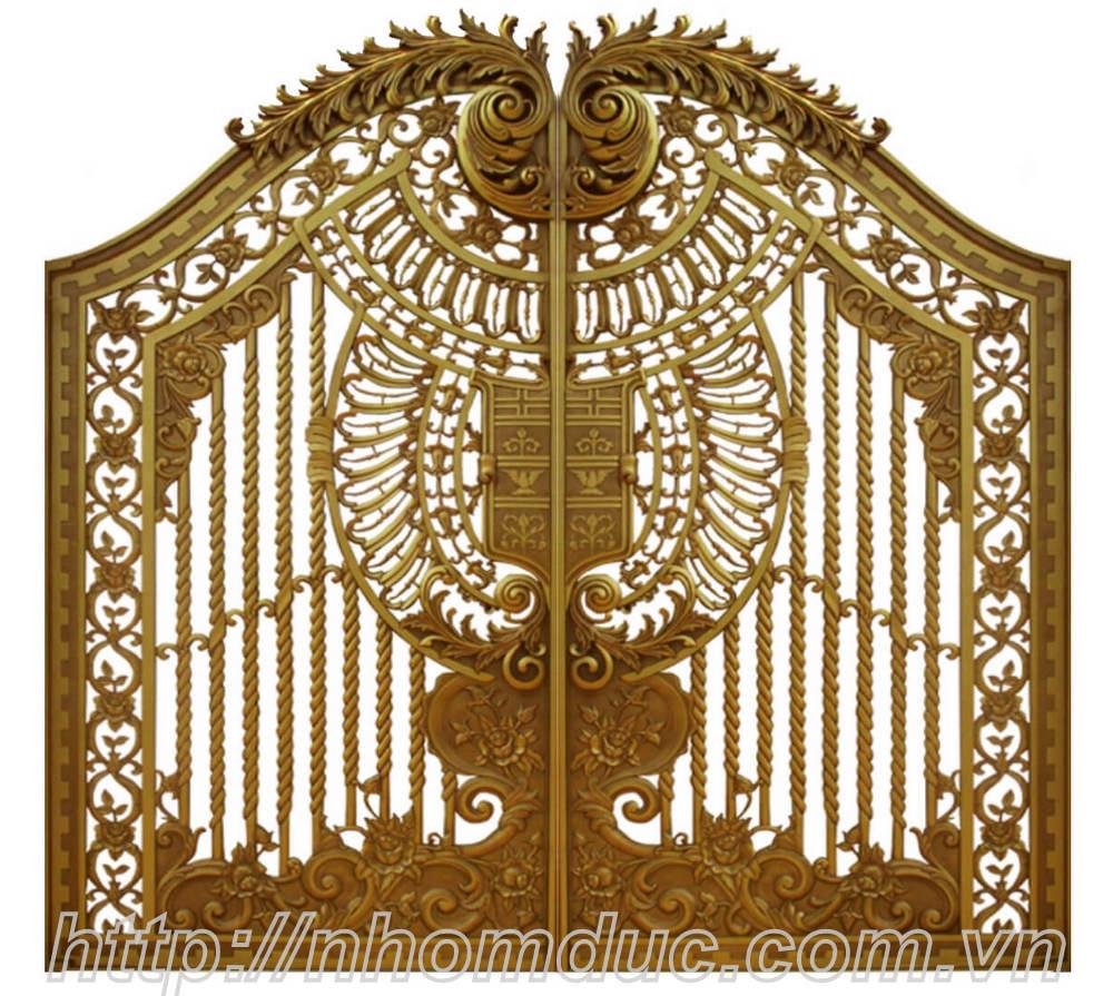 Cổng nhôm đúc được đúc từ nguyên liệu là hợp kim nhôm nên cổng nhôm đúc có độ bền rất cao. Không gỉ, không ô xi hóa, mẫu đẹp