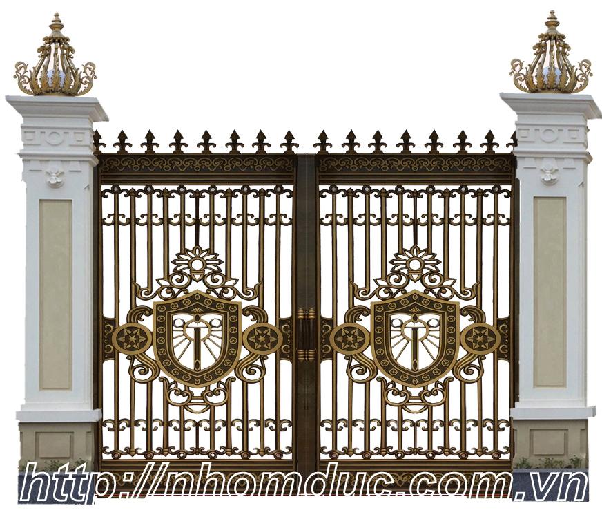 Cổng biệt thự đẹp, Cửa cổng hợp kim nhôm đúc