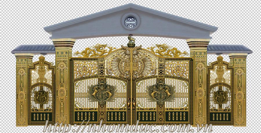 Cổng nhôm đúc biệt thự