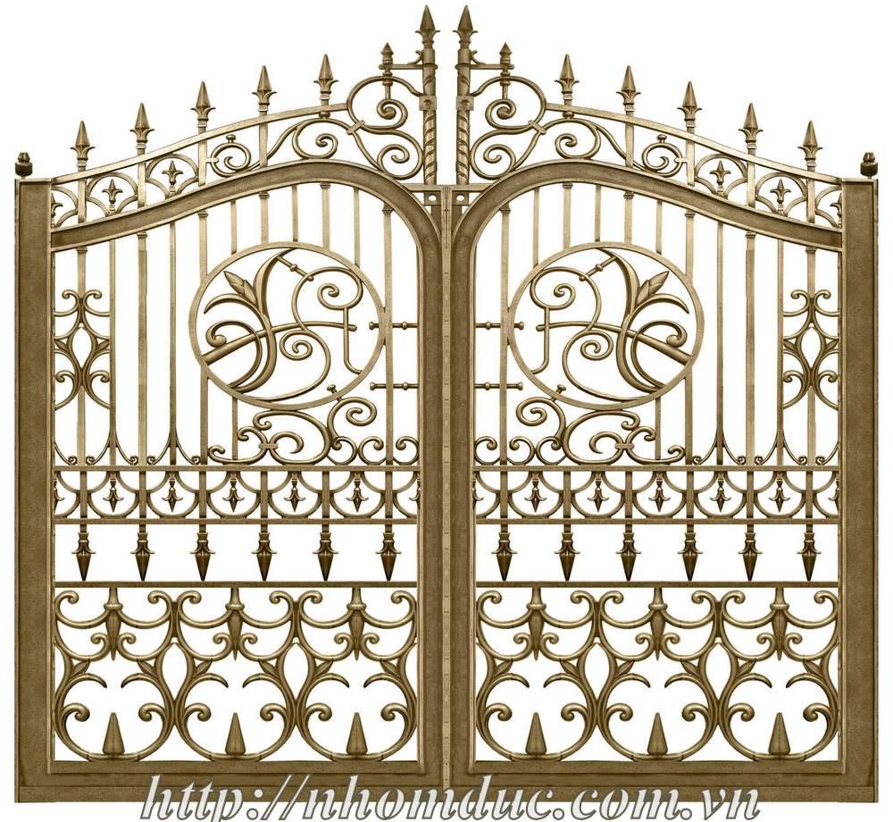 Mẫu cửa nhôm đúc GAT 101, cửa cổng nhôm đúc Fuco