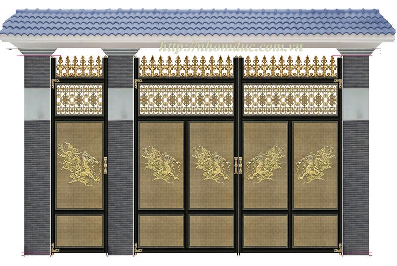 cổng nhôm đúc Fuco Phú Quốc