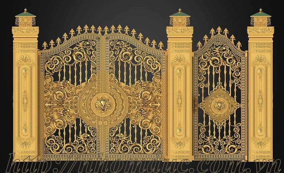 Báo giá cổng nhôm đúc Fuco, giá 220kg, Hàng rào nhôm đúc