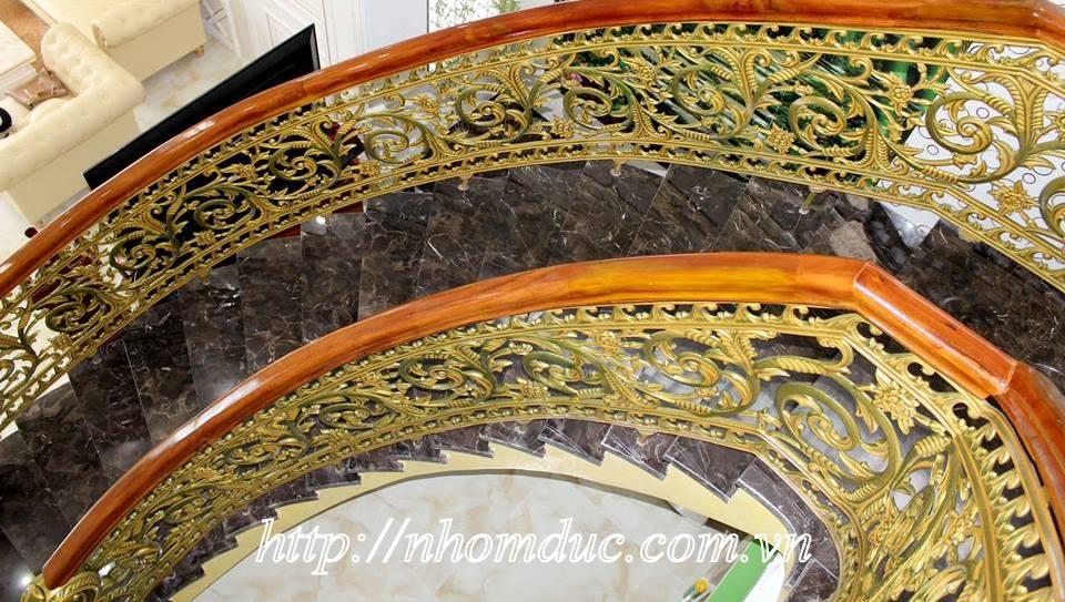 Cầu thang nhôm đúc. cầu thang hợp kim nhôm, cầu thang đẹp, kiểu cầu thang