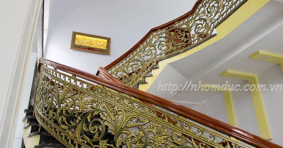 Cầu thang nhôm đúc đẹp TPHCM