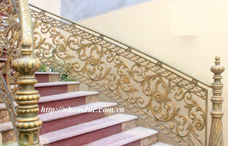 Báo giá cầu thang nhôm đúc con tiện, Cầu thang nhôm đúc, các loại cầu thang đơn giản như cầu thang con tiện, cầu thang phức tạp như cầu thang vỉ cong