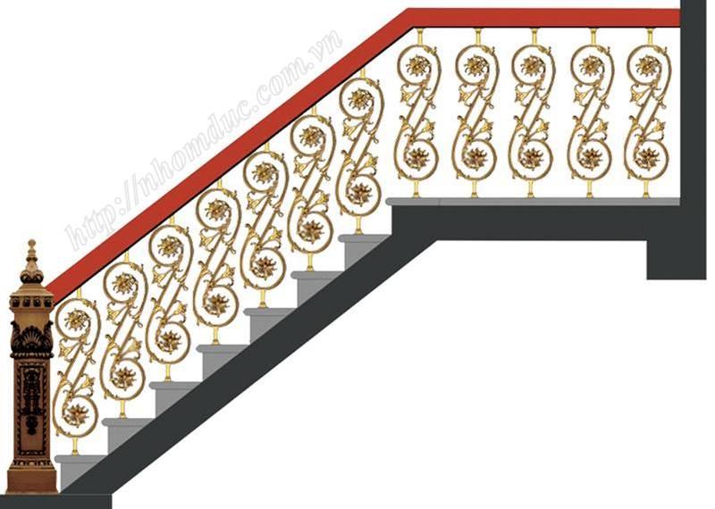 Báo giá cầu thang nhôm đúc, báo giá các loại cầu thang thẳng, cầu thang con tiện