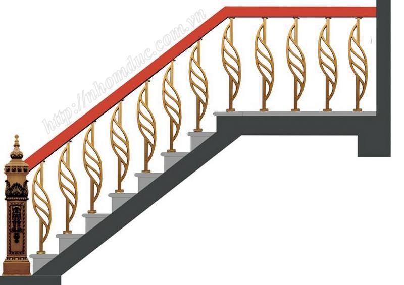 Cầu thang hợp kim nhôm đúc, cầu thang nhôm đúc thay thế cho các sản phẩm cầu thang khác. Cầu thang nhôm đúc bền, đẹp, thẩm mỹ.