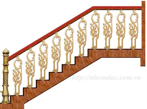 Cầu thang hợp kim nhôm đúc CT
