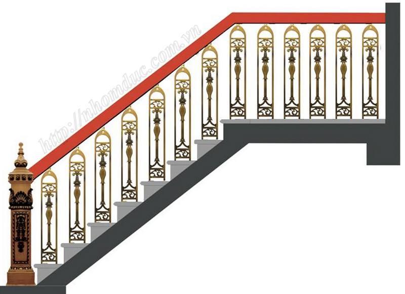 Cầu thang nhôm đúc - Nhôm đúc Hà Nội