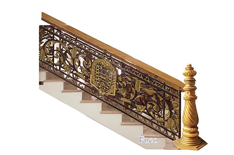 Cầu thang nhôm đúc sang đẹp cho biệt thự