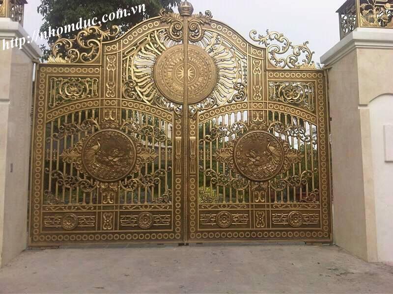 cổng hợp kim nhô đúc đặc