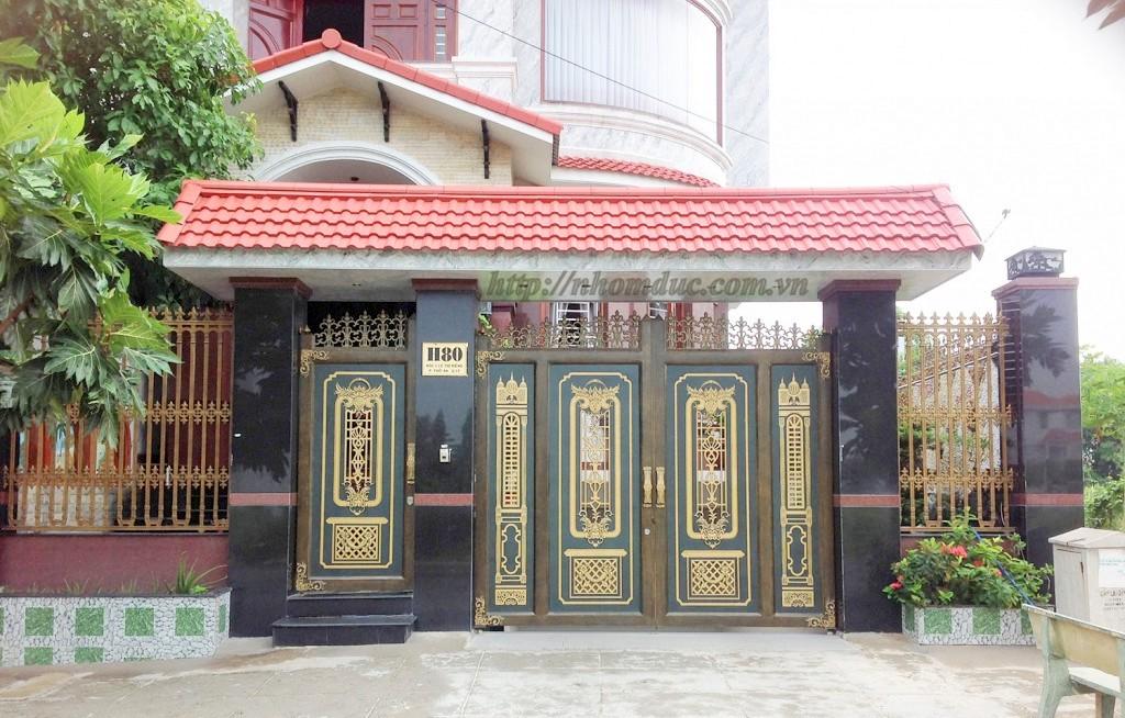 Mẫu cửa nhôm đúc GAT 101, cửa cổng nhôm đúc Fuco mẫu mã đẹp, sản xuất công nghện Nhật Bản, sơn tĩnh điện cao cấp.