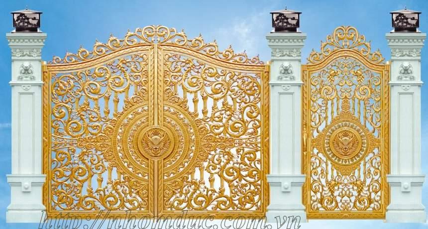 Cổng nhôm đúc này là cổng nhôm đúc nguyên cánh, cổng nhôm đúc đặc