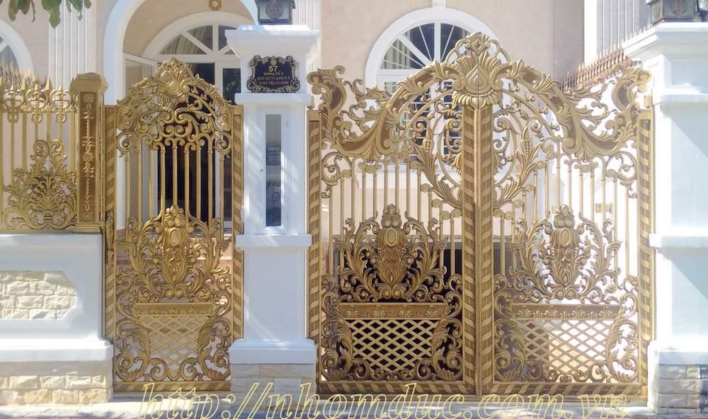 Báo giá cổng nhôm