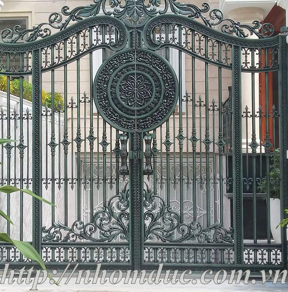 Cổng cửa hợp kim nhôm đúc loại cổng thoáng