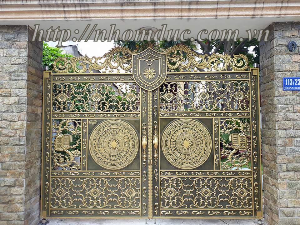 Báo giá cổng nhôm đúc thoáng