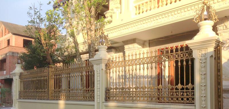 Cửa cổng hàng rào nhôm đúc , Hàng rào nhôm đúc hợp kim HR